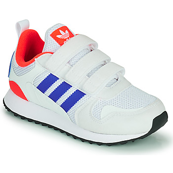kengät Lapset Matalavartiset tennarit adidas Originals ZX 700 HD CF C Sininen / Valkoinen / Punainen