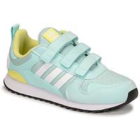 kengät Lapset Matalavartiset tennarit adidas Originals ZX 700 HD CF C Sininen / Keltainen