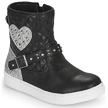 kengät Tytöt Bootsit Primigi B&G LUX Musta / Hopea