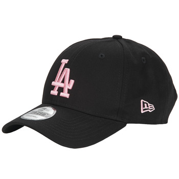 Asusteet / tarvikkeet Naiset Lippalakit New-Era LEAGUE ESSENTIAL 9FORTY LOS ANGELES DODGERS Musta / Vaaleanpunainen