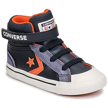 kengät Lapset Korkeavartiset tennarit Converse PRO BLAZE STRAP LEATHER TWIST HI Sininen