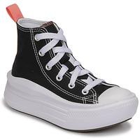 kengät Tytöt Korkeavartiset tennarit Converse CHUCK TAYLOR ALL STAR MOVE CANVAS HI Musta / Vaaleanpunainen