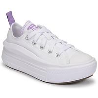 kengät Tytöt Matalavartiset tennarit Converse CHUCK TAYLOR ALL STAR MOVE CANVAS OX Valkoinen / Vaaleanpunainen