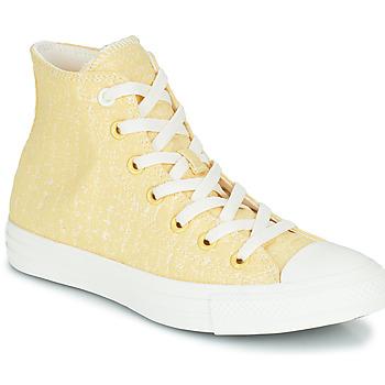 kengät Naiset Korkeavartiset tennarit Converse CHUCK TAYLOR ALL STAR HYBRID TEXTURE HI Keltainen