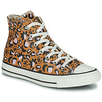 kengät Naiset Korkeavartiset tennarit Converse CHUCK TAYLOR ALL STAR MYSTIC WORLD HI Sinappi / Vaaleanpunainen
