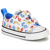 kengät Lapset Matalavartiset tennarit Converse CHUCK TAYLOR ALL STAR 2V DINO DAZE OX Valkoinen / Vihreä / Oranssi