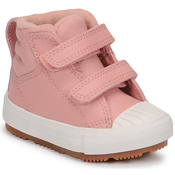 kengät Tytöt Korkeavartiset tennarit Converse CHUCK TAYLOR ALL STAR BERKSHIRE BOOT SEASONAL LEATHER HI Vaaleanpunainen