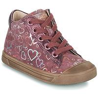 kengät Tytöt Korkeavartiset tennarit Acebo's 5533EL-GRANADA Vaaleanpunainen