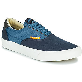 kengät Pojat Matalavartiset tennarit Jack & Jones JR MORK CANVAS BLOCK Sininen