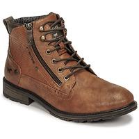kengät Miehet Bootsit Mustang 4140501 Konjakki