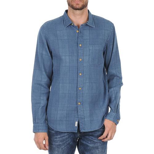 vaatteet Miehet Pitkähihainen paitapusero Façonnable JJMCT502000ERE Blue