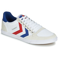 kengät Miehet Matalavartiset tennarit Hummel TEN STAR LOW CANVAS White / Red / Blue