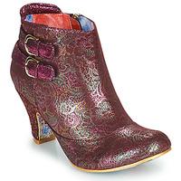 kengät Naiset Nilkkurit Irregular Choice THINK ABOUT IT Viininpunainen