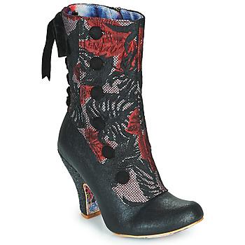 kengät Naiset Nilkkurit Irregular Choice REINETTE Musta / Punainen