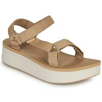 kengät Naiset Sandaalit ja avokkaat Teva Flatform Universal Beige / Valkoinen