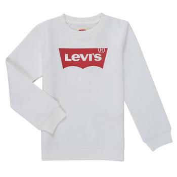 vaatteet Pojat Svetari Levi's BATWING CREWNECK SWEATSHIRT Valkoinen