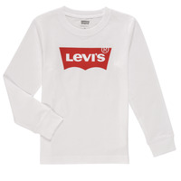 vaatteet Pojat T-paidat pitkillä hihoilla Levi's L/S BATWING TEE Valkoinen