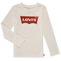 vaatteet Tytöt T-paidat pitkillä hihoilla Levi's LS BATWING TEE Valkoinen
