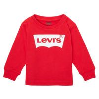 vaatteet Pojat T-paidat pitkillä hihoilla Levi's L/S BATWING TEE Punainen
