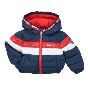 vaatteet Pojat Toppatakki Levi's COLORBLOCK JACKET Laivastonsininen / Valkoinen / Punainen