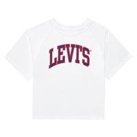 vaatteet Tytöt Lyhythihainen t-paita Levi's SSRGLANHGHRISETESHIRT Valkoinen