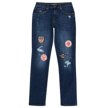 vaatteet Pojat Slim-farkut Guess CLASMI Sininen