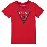 vaatteet Pojat Lyhythihainen t-paita Guess THERONN Punainen