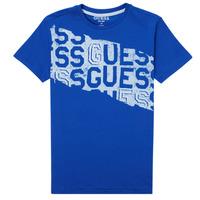 vaatteet Pojat Lyhythihainen t-paita Guess LISTIN Sininen