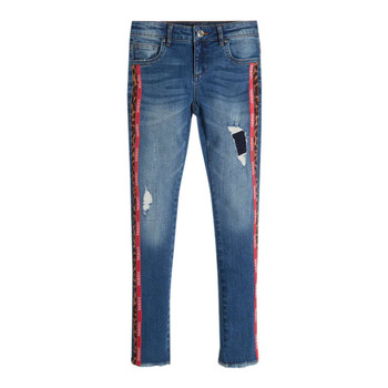 vaatteet Tytöt Slim-farkut Guess TRAMIN Sininen