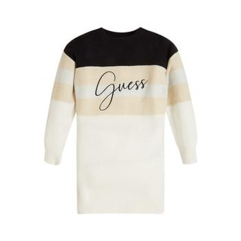 vaatteet Tytöt Lyhyt mekko Guess HOULLA Beige / Harmaa / Sininen