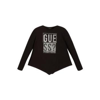 vaatteet Tytöt T-paidat pitkillä hihoilla Guess UPSET Musta