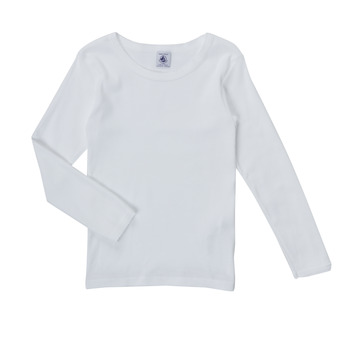 vaatteet Tytöt T-paidat pitkillä hihoilla Petit Bateau FATRE Valkoinen