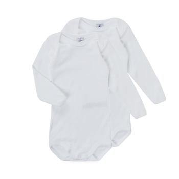 vaatteet Lapset pyjamat / yöpaidat Petit Bateau TESSA Valkoinen