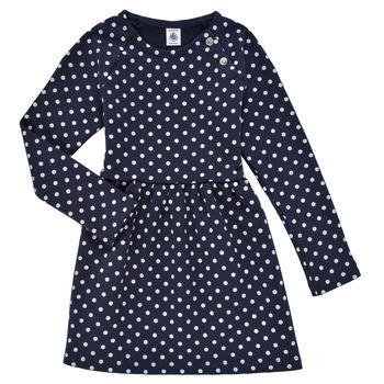 vaatteet Tytöt Lyhyt mekko Petit Bateau KARREMA Sininen / Valkoinen