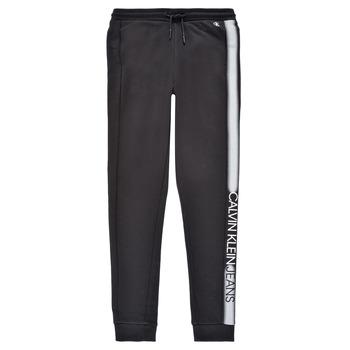 vaatteet Pojat Verryttelyhousut Calvin Klein Jeans RESPIRA Musta