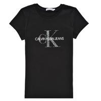 vaatteet Tytöt Lyhythihainen t-paita Calvin Klein Jeans VOYAT Musta