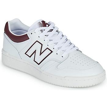 kengät Miehet Matalavartiset tennarit New Balance 480 Valkoinen / Viininpunainen