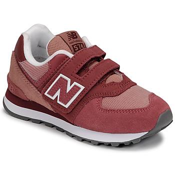 kengät Tytöt Matalavartiset tennarit New Balance 574 Vaaleanpunainen