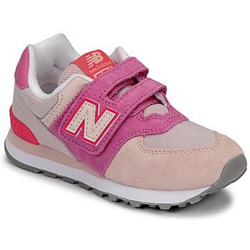kengät Tytöt Matalavartiset tennarit New Balance 574 Vaaleanpunainen / Violetti