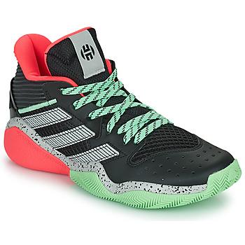 kengät Koripallokengät adidas Performance HARDEN STEPBACK Musta / Harmaa / Vihreä
