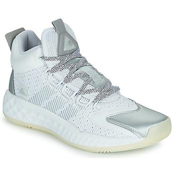 kengät Koripallokengät adidas Performance PRO BOOST MID Valkoinen / Hopea