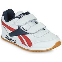 kengät Lapset Matalavartiset tennarit Reebok Classic REEBOK ROYAL CLJOG 2 2V Valkoinen / Laivastonsininen / Punainen