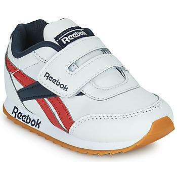 kengät Lapset Matalavartiset tennarit Reebok Classic REEBOK ROYAL CLJOG 2  KC Valkoinen / Laivastonsininen / Punainen