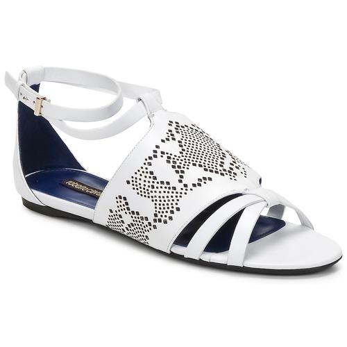 kengät Naiset Sandaalit ja avokkaat Roberto Cavalli TPS918 White