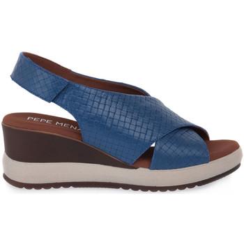 kengät Naiset Sandaalit ja avokkaat Pepe Menargues JEANS VACUNO Blu