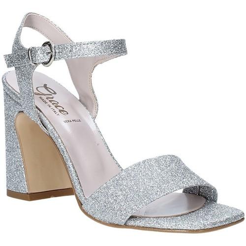 kengät Naiset Sandaalit ja avokkaat Grace Shoes 2384002 Hopea