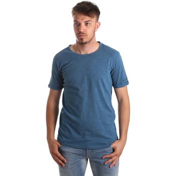 vaatteet Miehet T-paidat & Poolot Gaudi 911BU64027 Sininen