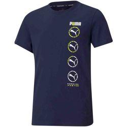 vaatteet Lapset Lyhythihainen t-paita Puma 585855 Sininen