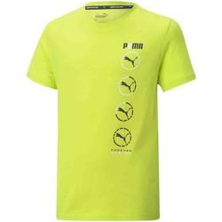 vaatteet Lapset Lyhythihainen t-paita Puma 585855 Keltainen