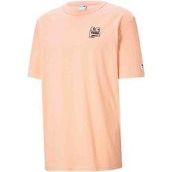 vaatteet Miehet Lyhythihainen t-paita Puma 530899 Oranssi